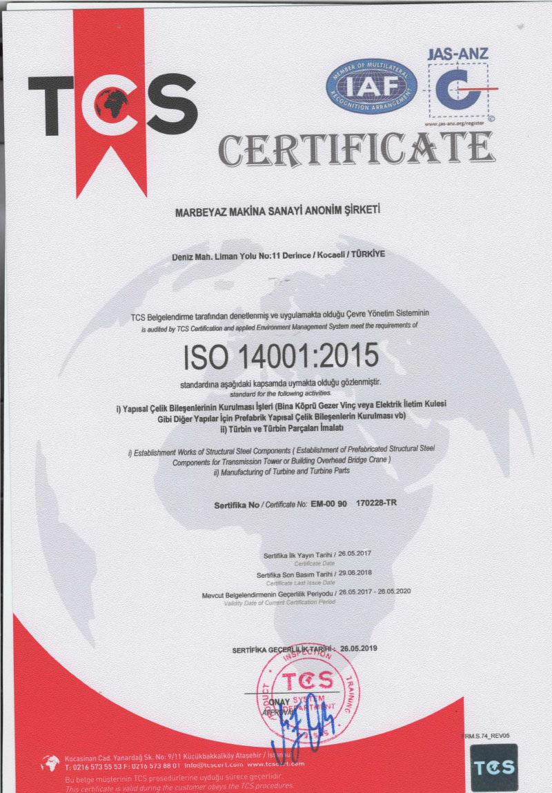 ISO-14001-Sertifikası