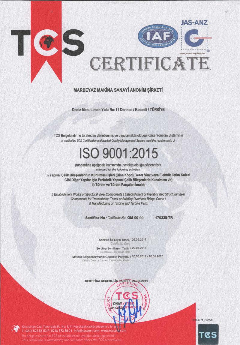 ISO-9001-Sertifikası